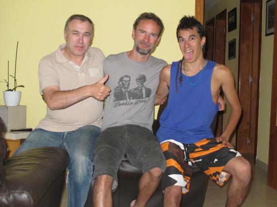 Amb en Dan i en Xavier a casa