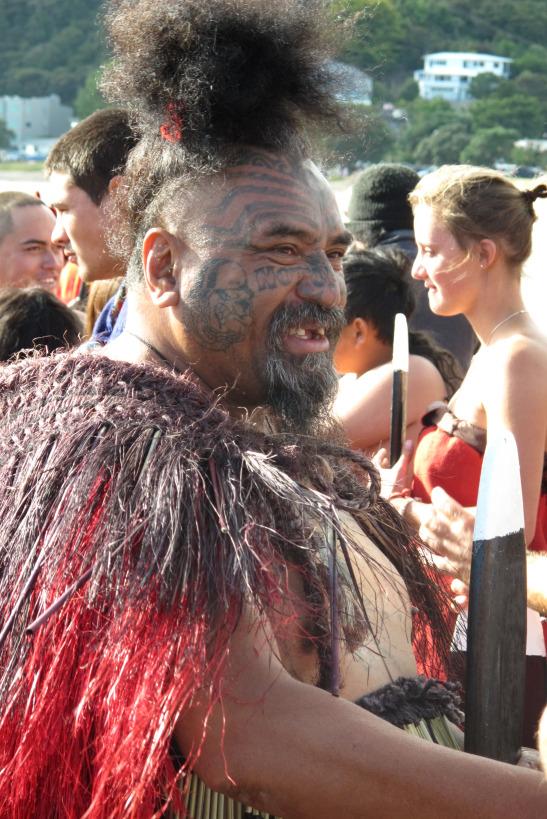 Guerrer Maorí. Waitangi Day. Paihia. Nova Zelanda