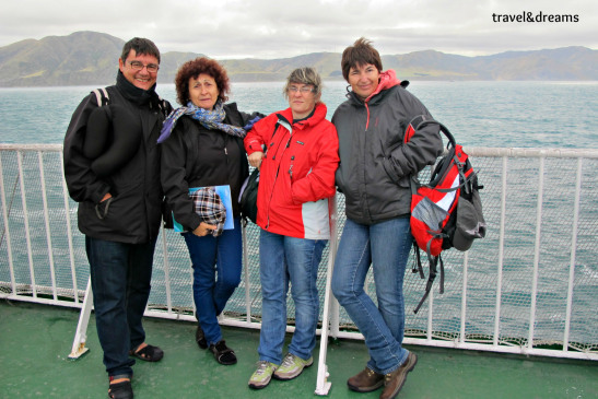 Amb uns amics de Calafell en el ferry cap a la illa sud de Nova Zelanda / With a friends from Calafell in the ferry to  the South Island, New Zealand