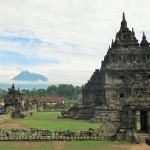 Temple Plaosan i Volcà Merapi