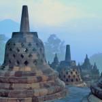 Estupes a Borobudur