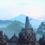 El Merapi des de Borobudur