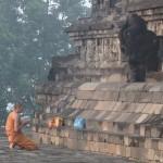 Monjo budista a Borobudur